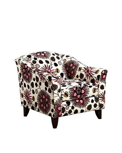 Armen Living Mindy Chair in Belcanto Fabric, Rose