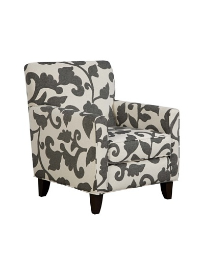 Armen Living Franklin Chair in Marcie Fabric, Onyx