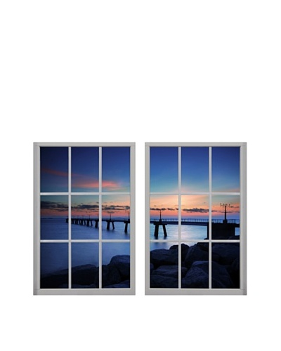 Art Addiction Set of 2 Colorful Sky