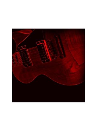 Art Addiction Red Guitar, Right Panel, 30 x 30