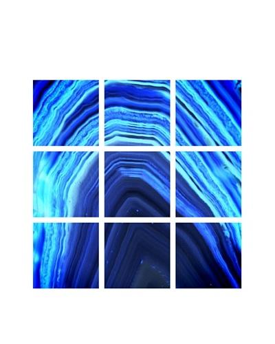 Art Addiction Acrylic Printed Blue Agate, Polyptych