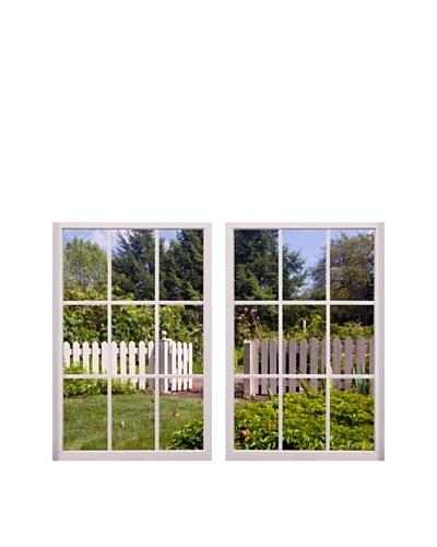Art Addiction Set of 2 White Picket Fence