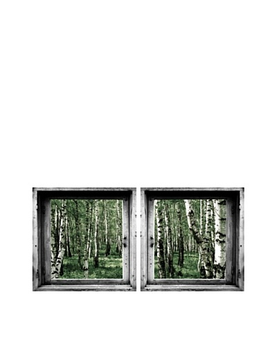 Art Addiction Set of 2 Green Forest