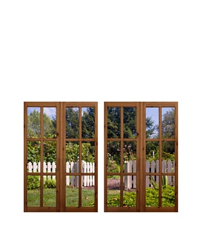 Art Addiction Set of 2 Fenced Garden