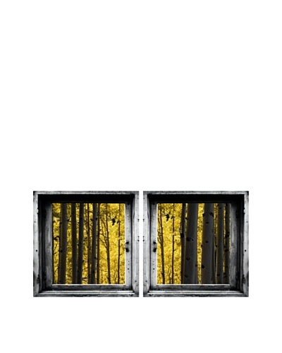 Art Addiction Set of 2 Yellow Forest