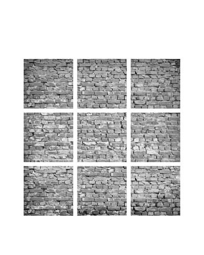 Art Addiction Brick Wall, B&W, Polyptych