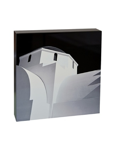 Art Block Greek Arch -Fine Art Photography On Lacquered Wood Blocks