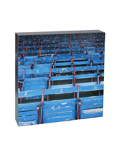 Art Block Stadium Seats - Fine Art Photography On Lacquered Wood Blocks
