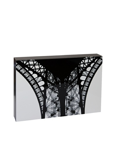 Art Block Eiffel Tower - Fine Art Photography On Lacquered Wood Blocks