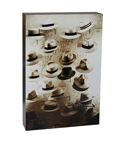 Art Block Old England Hats - Fine Art Photography On Lacquered Wood Blocks