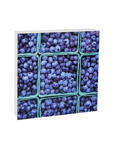 Art Block Blueberries -Fine Art Photography On Lacquered Wood Blocks