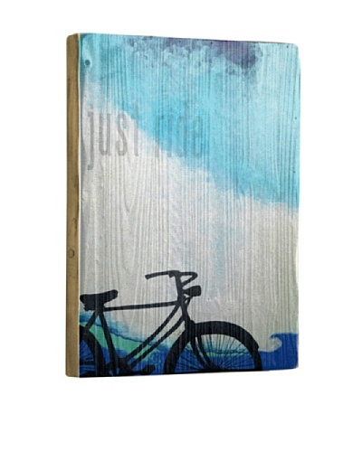 Artehouse Just Ride Reclaimed Wood Sign