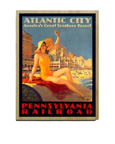 Artehouse Atlantic City Bamboo Wood Sign
