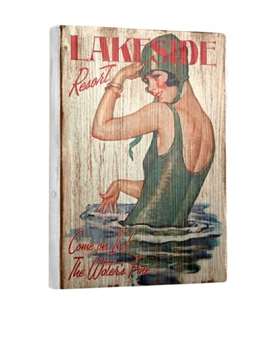 Artehouse Lakeside Resort Reclaimed Wood Sign
