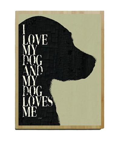Artehouse I Love My Dog Bamboo Wood Sign