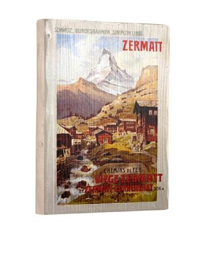 Artehouse Zermatt Matterhorn Reclaimed Wood Sign