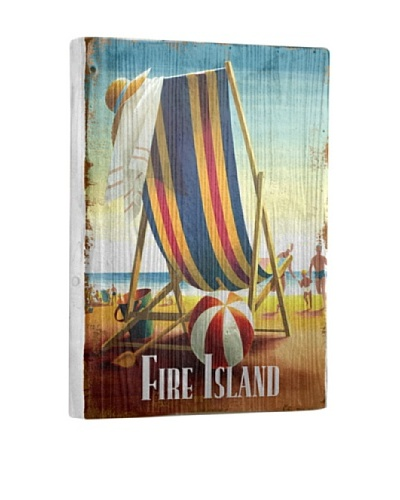 Artehouse Beach Chair-Fire Island Reclaimed Wood Sign