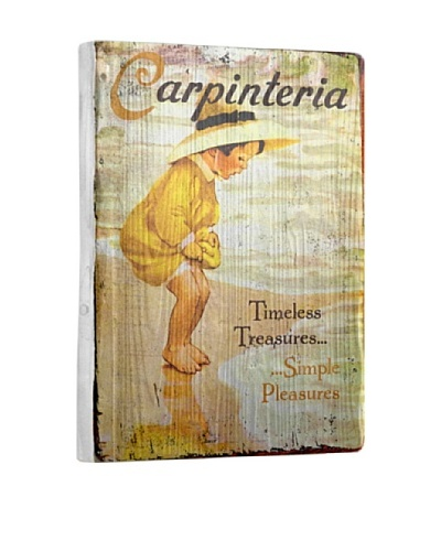 Artehouse Simple Pleasures-Carpinteria Reclaimed Wood Sign