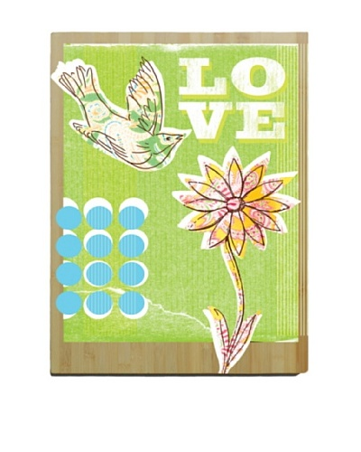 Artehouse Love Bird Bamboo Wood Sign