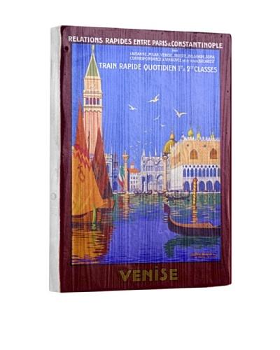 Artehouse Venice Italian Gondola Reclaimed Wood Sign