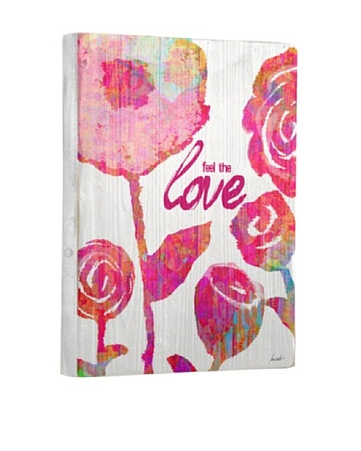 Lisa Weedn Feel The Love Reclaimed Finished Wood Portrait