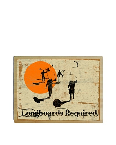 Artehouse Longboards Required Bamboo Wood Sign