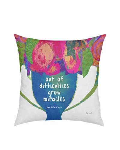 Artehouse Out Of Difficulties Flowers In Vase Pillow