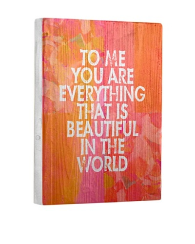 Lisa Weedn Everything That Is Beautiful Reclaimed Finished Wood Portrait