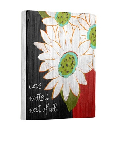 Lisa Weedn Love Matters Most Of All Reclaimed Finished Wood Portrait