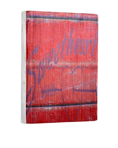 Lisa Weedn Sweetheart Reclaimed Finished Wood Portrait