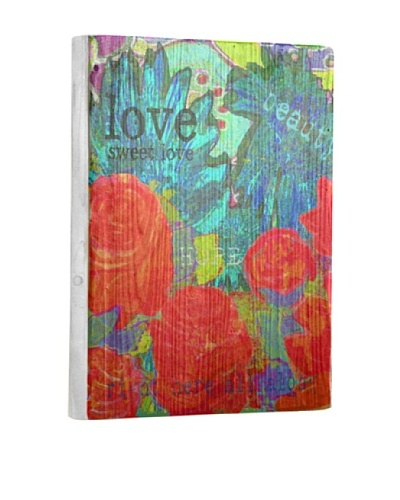Lisa Weedn Love Sweet Love Reclaimed Finished Wood Portrait