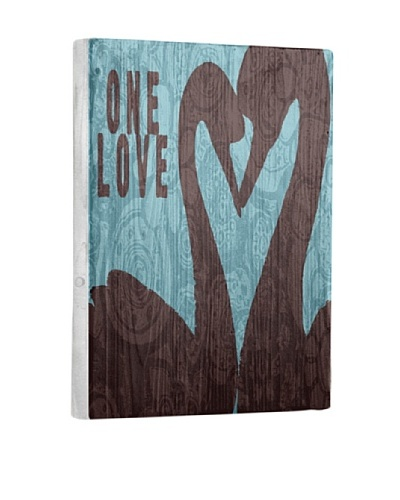 Lisa Weedn One Love Swans Reclaimed Finished Wood Portrait