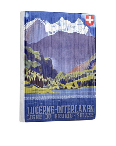 Artehouse Swiss Alps Lucerne Reclaimed Wood Sign