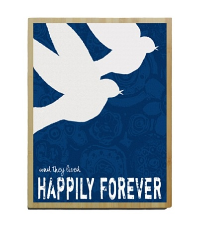 "Artehouse Happily Forever Bamboo Wood Sign, 24"" x 18"""