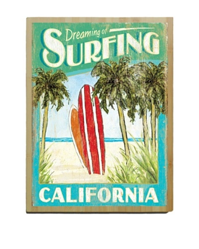Artehouse Dreaming of Surfing Bamboo Wood Sign