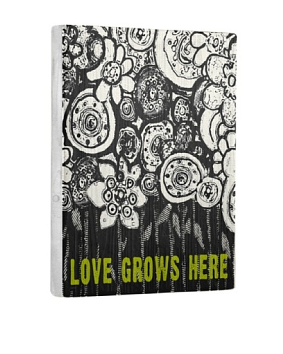 Lisa Weedn Love Grows Here Reclaimed Finished Wood Portrait