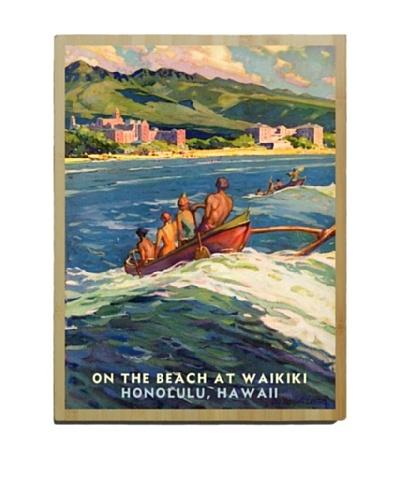 Artehouse Waikiki Beach Bamboo Wood Sign