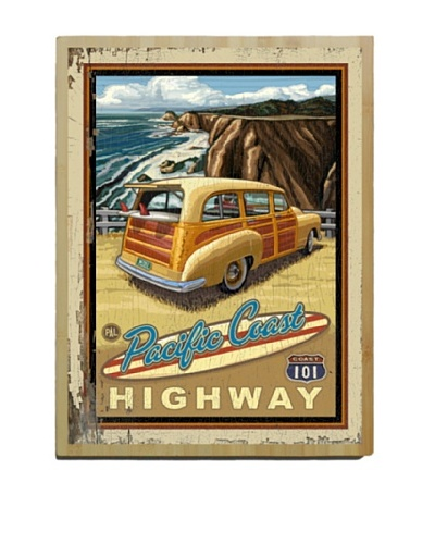 Artehouse Pacific Coast Highway Bamboo Wood Sign