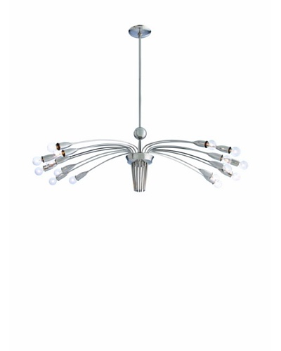 Arteriors Home Valdez Chandelier, Polished Nickel Brass