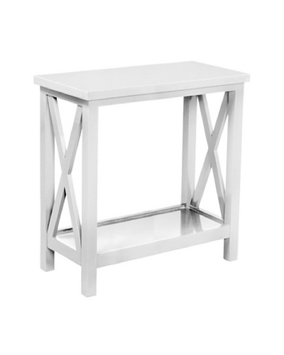 Article 24 Criss Cross Console Table, White