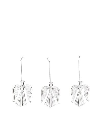 Artisan Glass by Seasons Designs Set of 3 Spun Crystal Angel Ornaments
