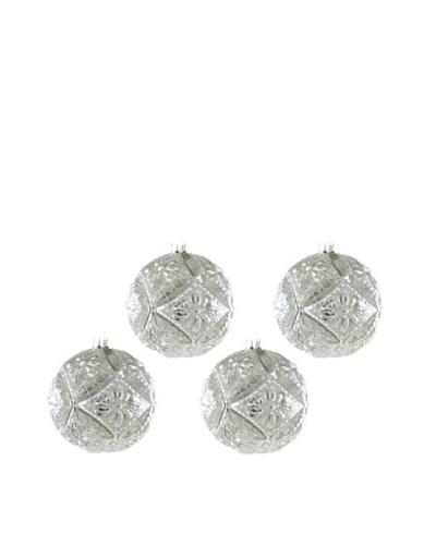 Artisan Glass by Seasons Designs Set of 4 Retro Molded Ornaments