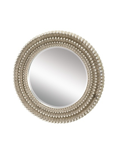 Artistic Dahila Mirror, Antique Silver Leaf, 35 x 35