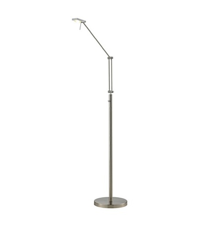 Artistic Lighting Reilly Collection 1-Light LED Floor Lamp, Brushed Nickel/Aluminum