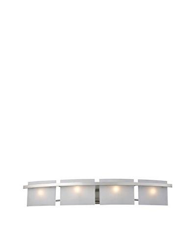 Artistic Lighting Briston 4-Light Vanity, Satin Nickel