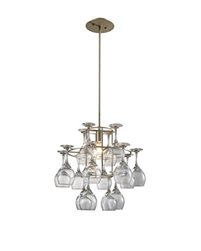 Artistic Lighting Vintage Chandelier, Weathered Silver