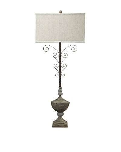 Artistic Lighting Concrete Accent & Iron Table Lamp, Clear