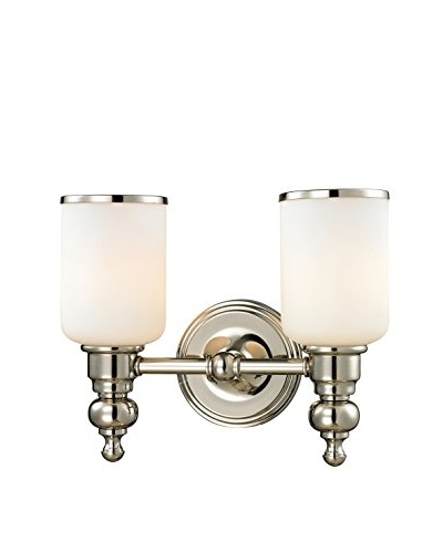 Artistic Lighting Bristol Collection 2-Light LED Bath Bar, Polished Nickel