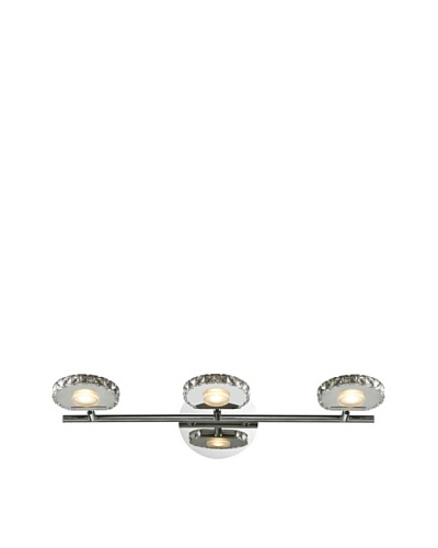Artistic Lighting Spiva Collection 3-Light LED Bath Fixture, Polished Chrome
