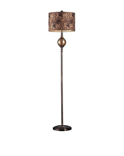 Artistic Lighting Alliance Floor Lamp, Coffee/Smoked Glass